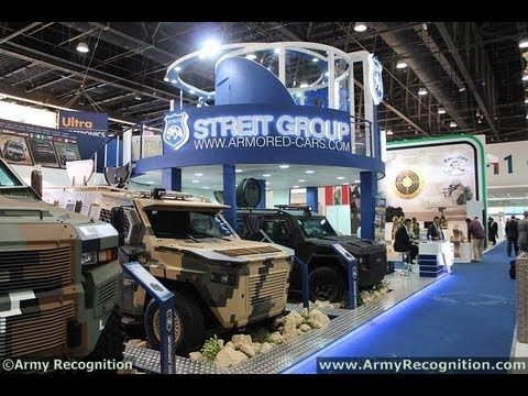 Streit Group, the world's largest privately-owned vehicle armouring company, exhibits 15 of its armoured vehicles at IDEX 2013 (Read more at http://www.armyrecognition.com/index.php?option=com_content=view=6648 )defence exhibition in Abu Dhabi, United Arab Emirates. Of the 15, no fewer than seven will be brand new models reflecting the s...