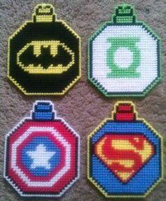 Superhero Ornament Plastic Canvas Pattern 3.00                                                                                                                                                                                 More