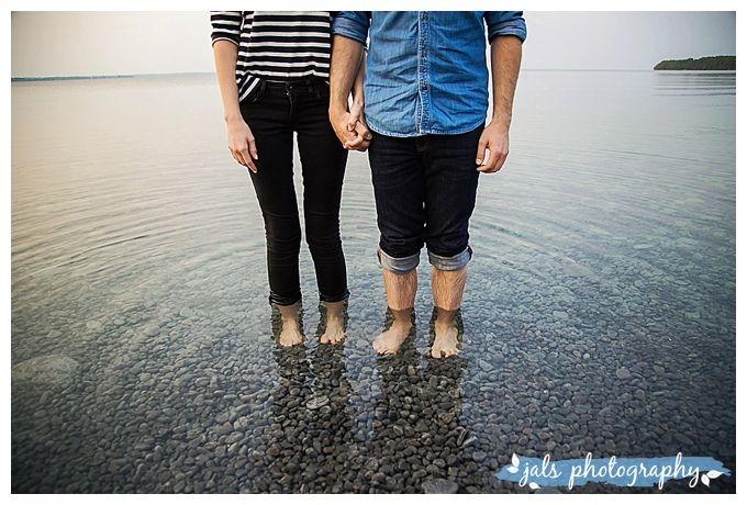 Close Up Lake romantic engagement