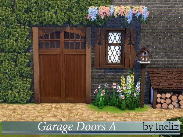 The Sims Resource Garage Doors A By Ineliz Sims 4 Downloads Garage Doors Garage Door Texture