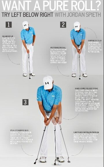 Check out Jordan Spieth Putting Tips! More golf tips everyday at Lori's Golf Shoppe