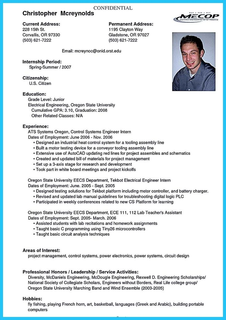 college student resume career objective Student resume