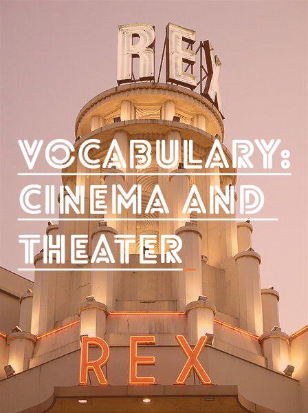 French Vocab: Cinema and Theater – Le cinéma et le théâtre