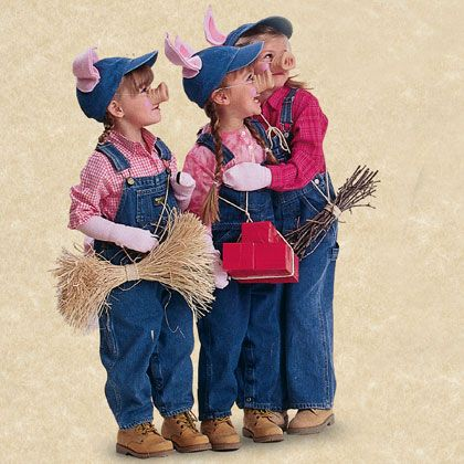 Halloween Group Costume: Three Little Pigs Costumes | Spoonful and Xavier will be the Big Bad Wolf