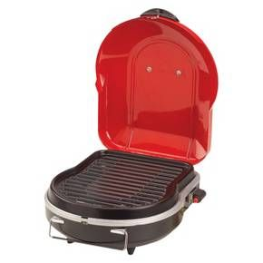 No trunk is complete without a Coleman Fold N Go Portable Grill for delicious grilled meals, no matter where you end up. This portable grill is ideal for camping, hunting, tailgating, picnicking or even using at home. This small, foldable gas grill uses InstaStart matchless lighting so its a snap to start, whether youre a master griller or a novice. The large cooking surface provides enough space to make a meal for your entire family, but it also easily accommodates a small meal for one. The…