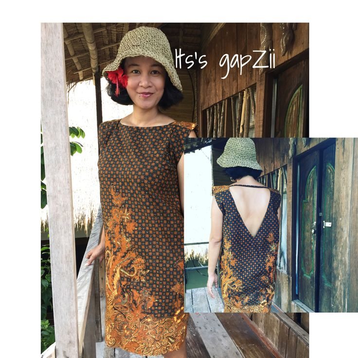 Sexy dress with printed batik