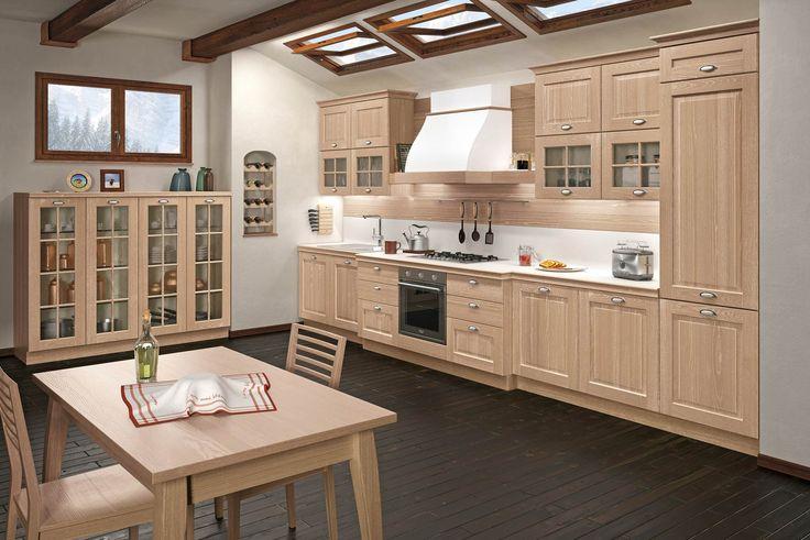 Dal frassino bianco al frassino gessato!!!!!! Questa settimana vi salutiamo con questa nuova soluzione della nostra  #Cucina #Amica!! Atmosfera accogliente, eleganza, raffinatezza e naturalmente solidità che dura nel tempo.#CucineComponibili #CucineClassiche #Kitchens #Vismap