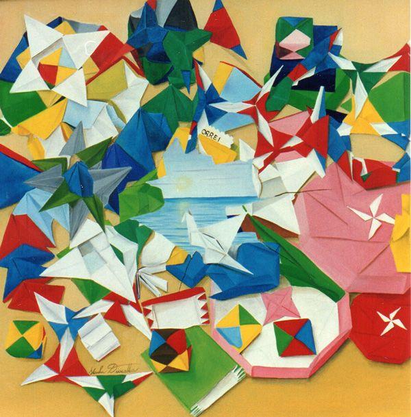 Origami - collezione privata - Olio su tela 50x50
