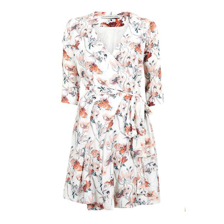 dead format floral wrap dress