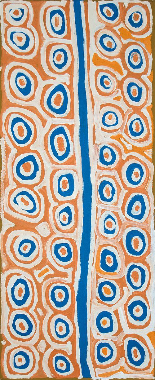 Alice Nampitjinpa Titre de l'œuvre : Tjilkamala - Porcupine rockhole Format : 100 x 40 cm #aboriginalart #artaborigene #ikuntji #artcontemporain #Bruxelles