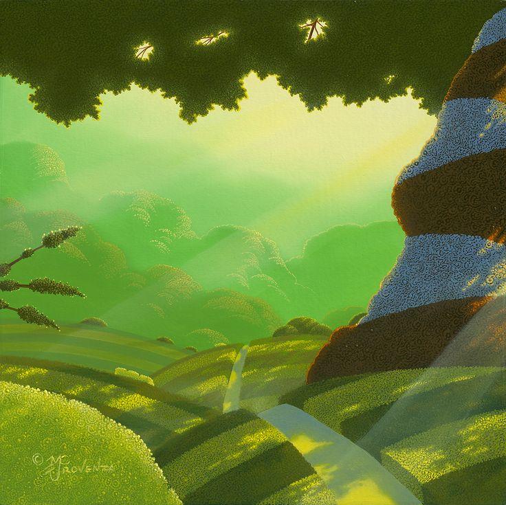 "LIME LIGHT (oil on panel) 12"" x 12"""