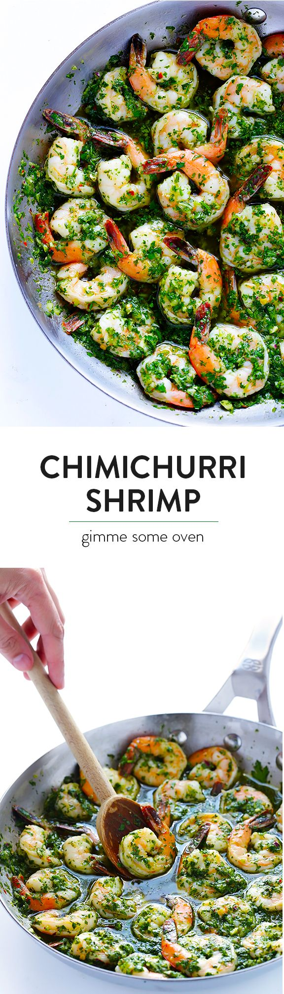 This Chimichurri Shrimp recipe is super quick and easy to make, and packed with fresh and healthy flavors everyone will love! | gimmesomeoven.com