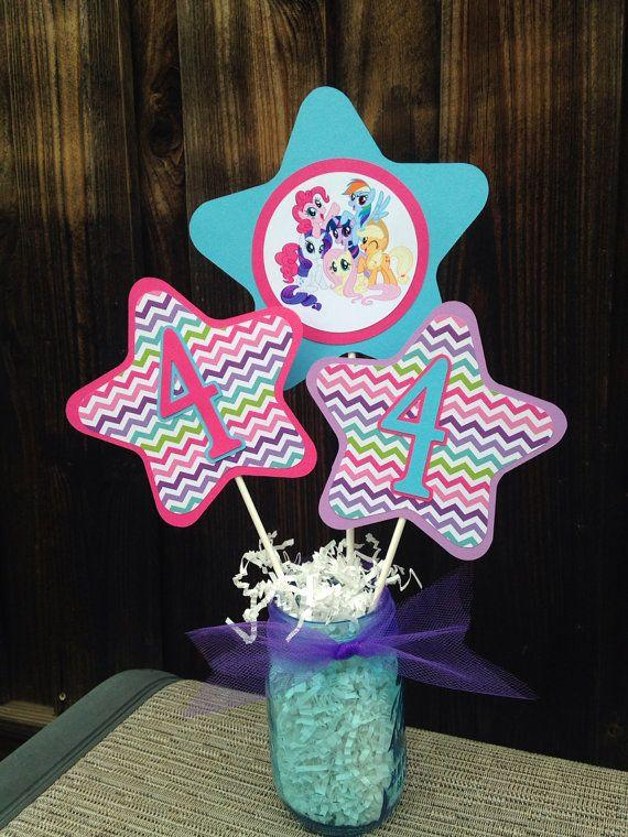 My Little Pony Centerpiece | My Lil Pony Birthday Decorations on Etsy, $8.00