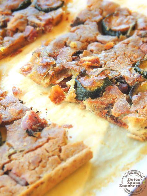 Focaccia di Quinoa con Olive e Zucchine   Dolce Senza Zucchero