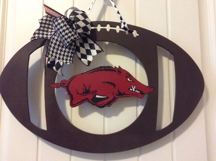 """Hog Football Door Hanger-20"""""""