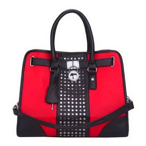 2017 new Michael Kors Hamilton Center-Stripe Studded Large Black Red Tote0 deal online, save up to 90% off dokuz limited offer, no duty and free shipping.#handbags #design #totebag #fashionbag #shoppingbag #womenbag #womensfashion #luxurydesign #luxurybag #michaelkors #handbagsale #michaelkorshandbags #totebag #shoppingbag