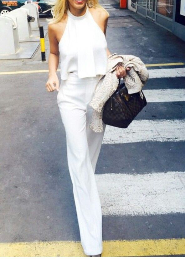 All white has always been my favorite! its the perfect go to when going out on a formal occasion !