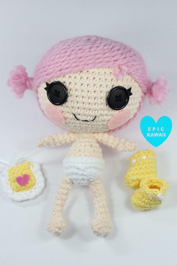 PATTERN Lalaloopsy Little Crochet Amigurumi Doll by epickawaii, $5.99