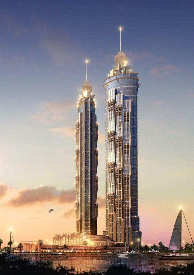 The JW Marriott Marquis Dubai Hotel in UAE // http://www.gayot.com/blog/worlds-tallest-hotel-jw-marriott-marquis-dubai-opens-travel-news