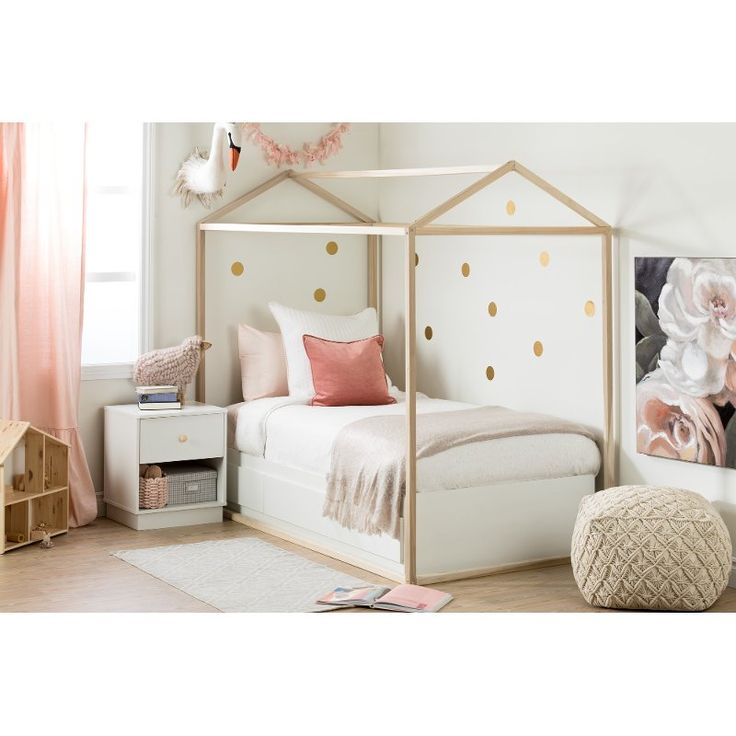 Contemporary White Twin Storage Bed - Sweedi | House frame ...