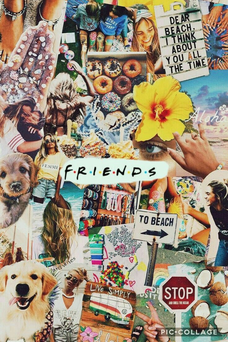 Pin By Yu Hiuwah On Friends Tv Show Collage Background Cute