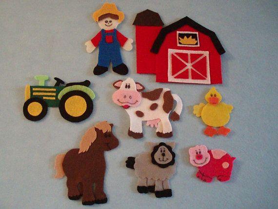 Old McDonalds Farm Felt Board Story by JillyPooCreations on Etsy, $25.00