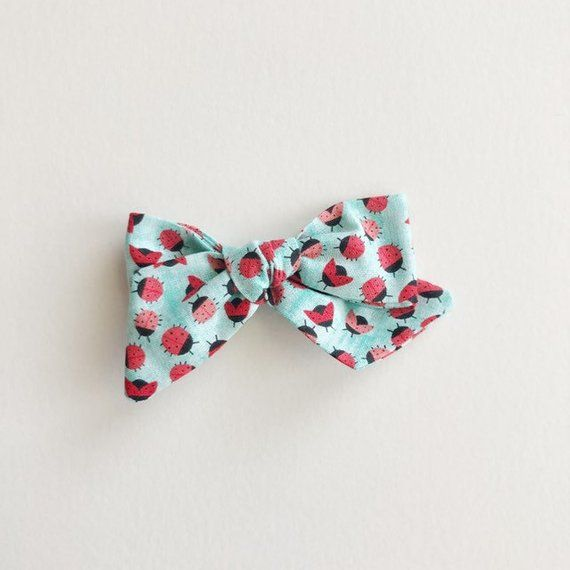 White Sprinkles Bow Toddler Fabric Bow Baby Baby Headband Clip Fabric Bow Girls Pinwheel Bow