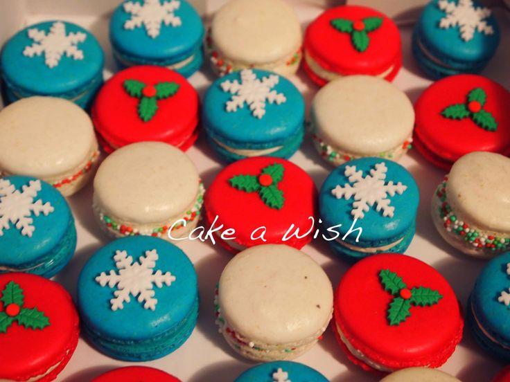 #christmas #macaron