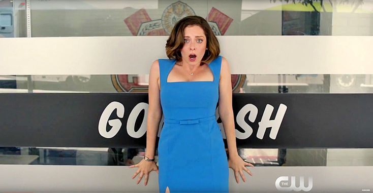 """What's your favorite Crazy Ex-Girlfriend show music so far? Darryl's kind of creepy love song to his daughter? Rebecca's rap about """"giving good parent""""? Valencia's vagina voodoo yoga magic? Rebecca's mom's guilt-ridden plea for a bathroom? Upvote your favorite original song from Crazy Ex-Girlfriend and be sure to sing it with feeling... and that insane look in your eye."""
