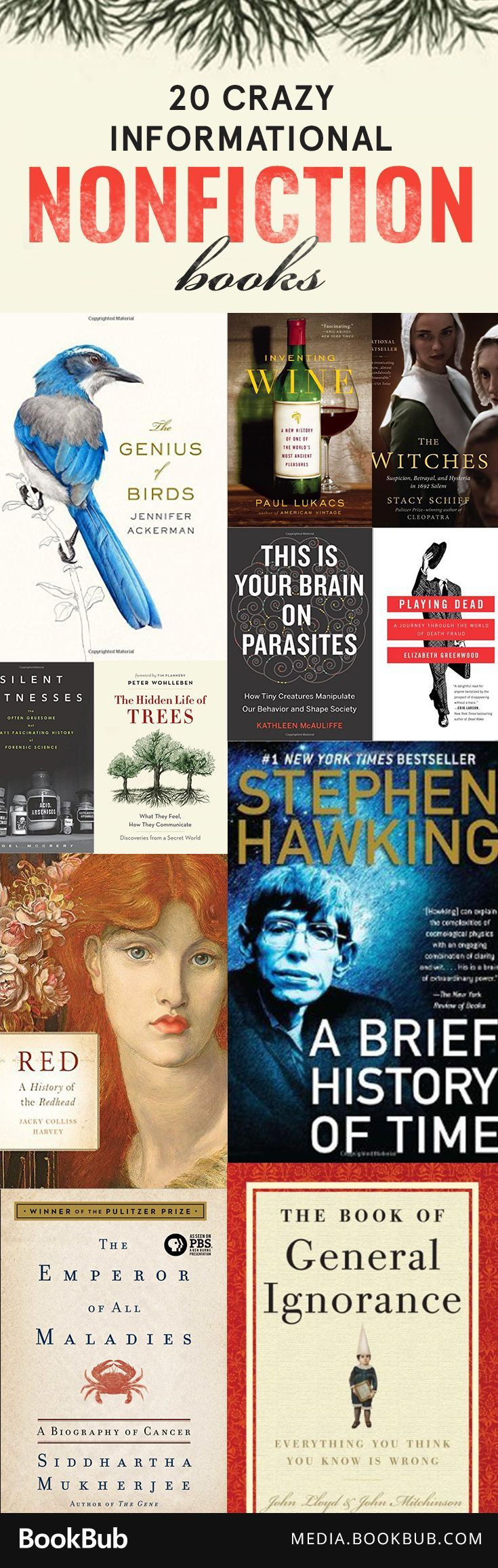 Be an expert on anything from bacon to house cats with these 20 fascinating books.