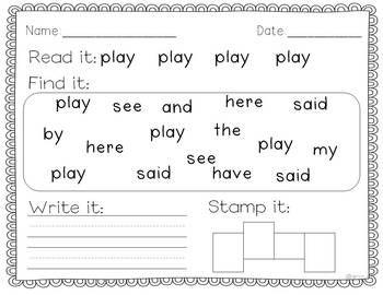 SIGHT WORD WRITING PRACTICE BUNDLE PACK - TeachersPayTeachers.com