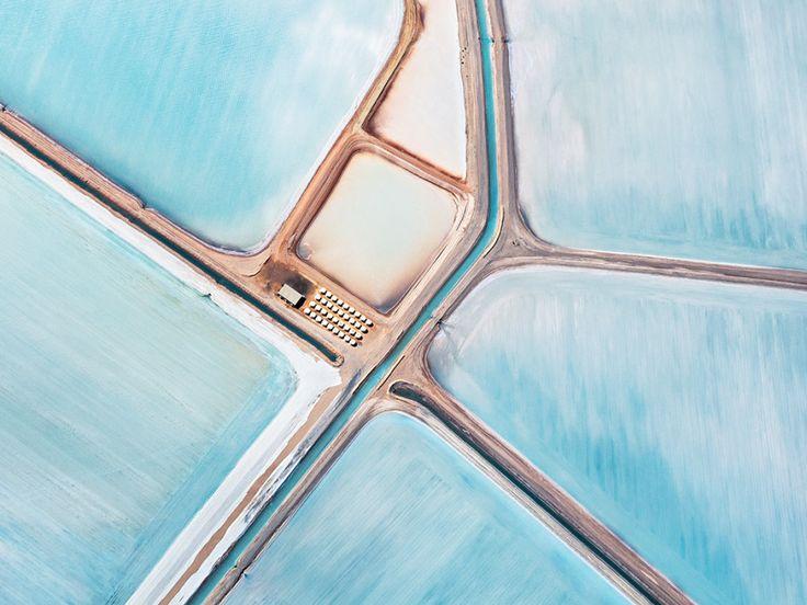 Fly Over Australia's Breathtakingly Blue Salt Flats