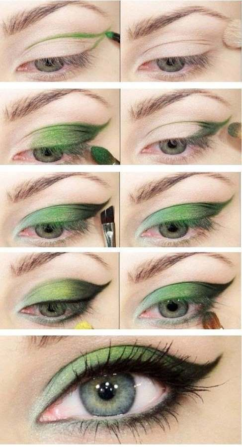 Green Eye Shadow Makeup Tutorial