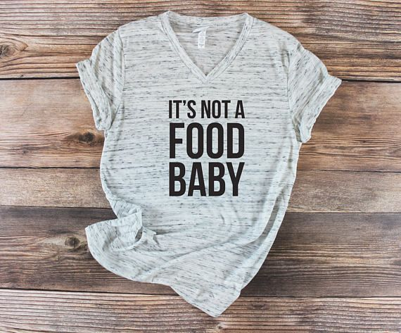 It's Not a Food Baby Maternity Shirt | This cute funny boho pregnancy shirt is perfect for creating a cute pregnancy outfit! Comfy, simple, and the perfect gift idea for a young hip hipster millennial mom to be with a funny sense of humor. Perfect for a baby shower Christmas birthday or holiday gift for a pregnant friend or relative. #Affiliate #pregnancyhumor
