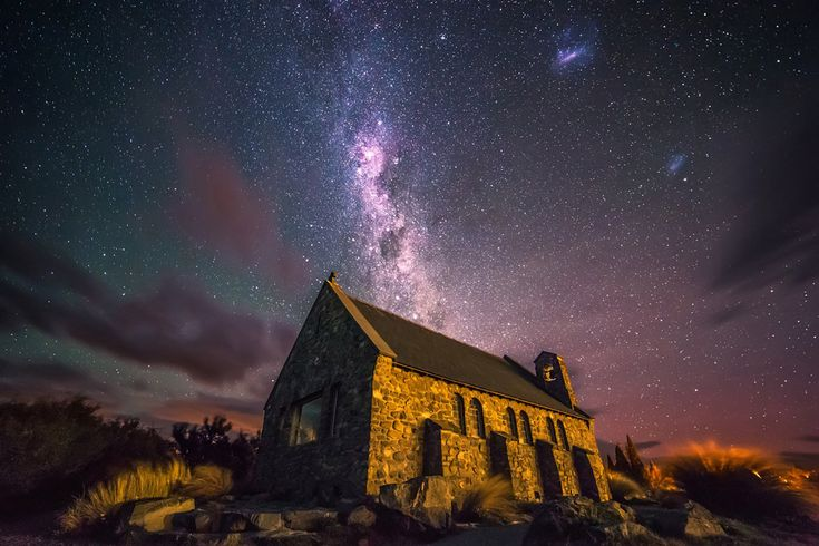 Epiphany. Church in Tekapo, New Zealand by Sebastian Warneke