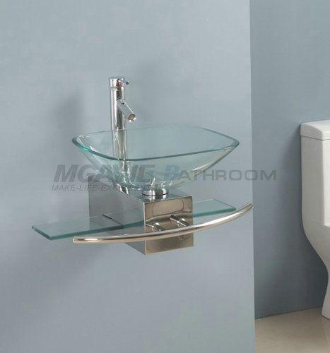 Modern Bathroom Glass Vanities 36 best glass sink vanity images on pinterest | vessel sink vanity