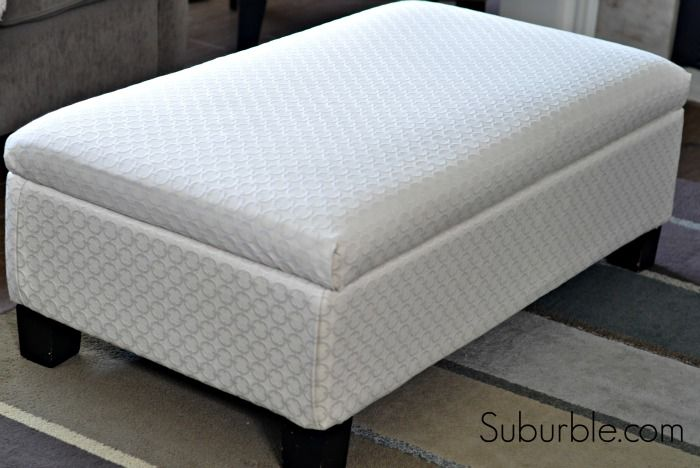 The No Sew Way To Recover An Ottoman