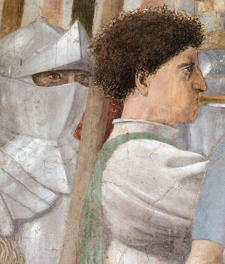 Piero della Francesca Constantine's Victory over Maxentius (detail) 1452-66 Fresco San Francesco, Arezzo