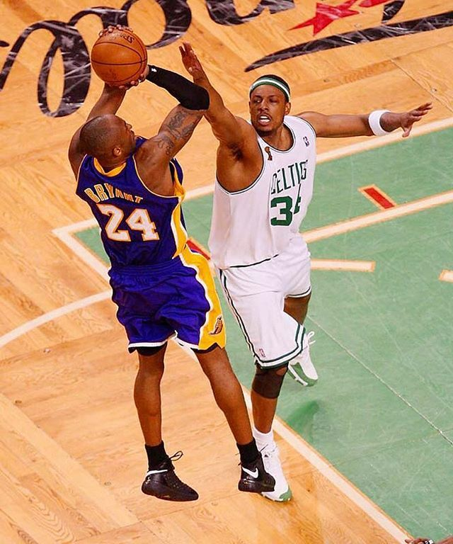 Kobe Bryant, Los Angeles Lakers versus Paul Pierce, Boston Celtics.