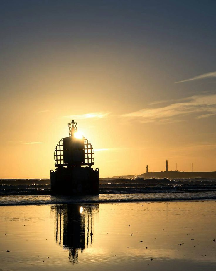 A result of the recent storms this bouy was torn from the harbour entrance and washed up on the beach. Taken at sunrise.  Photographer @notnixon  If I Were A Bouy #sunrise #aberdeen #AberdeenAdored #Team30se #silhouette #northsea