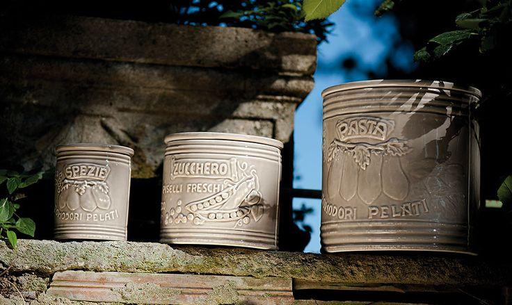 Virginia Casa - Linea Mediterraneo - Barattoli in ceramica, articoli da cucina e da dispensa