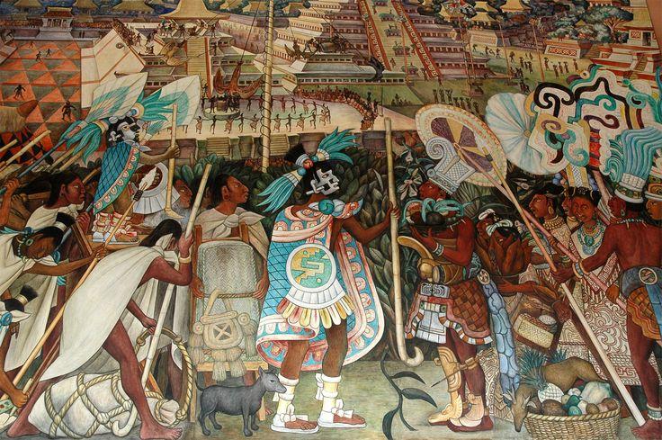 38 best los aztecas images on pinterest ap spanish for Mural de rivera
