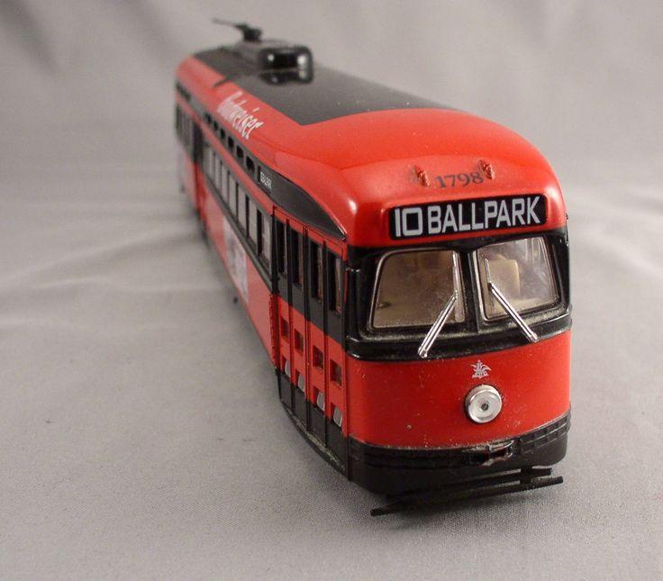 Corgi Budweiser PCC Streetcar Trolley - Ballpark destiniation - Diecast 1:50 Scale - Vintage Toy by SMNtoys on Etsy