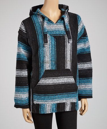 Take a look at this Turquoise Baja Hoodie by EARTH RAGZ on #zulily today!