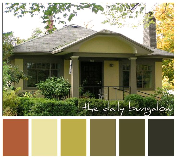 Paint color for the house with copper metal roof for Bungalow paint schemes