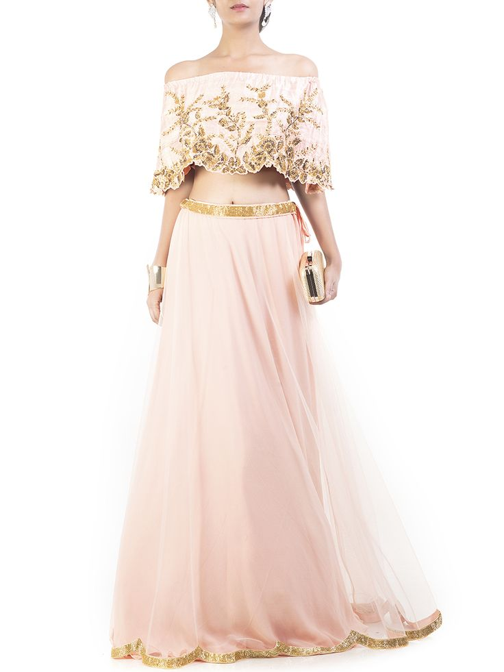 Blush Pink Embroidered Cape Lehenga #Ekatrra #Georgette #Stylist #Fashiondiaries #Womenwear #Dress #Trendy #Vintage #Onlineshopping #Gift #Follow #Fashionable #Comfortable #Trendsetter #Beautifulyou #Couture #Celebration Shop Now: http://bit.ly/1pO2UbS