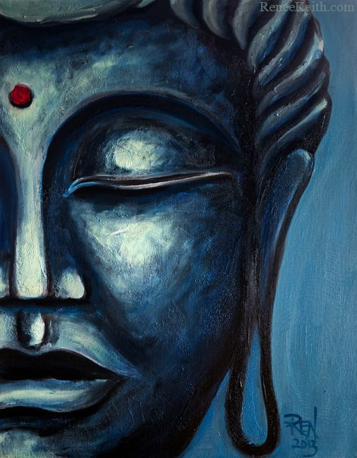 """Those who act with few desires are calm, without worry or fear.""   ~ The Buddha  Artwork by: Renee Keith Buddha Face Series (#6)"