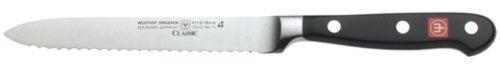 "Wusthof Classic 4110 Serrated Utility Knife (Sausage knife ) 14 cm 5"" by Wusthof, http://www.amazon.com/dp/B00005MEGN/ref=cm_sw_r_pi_dp_mVVnqb1400ADE"