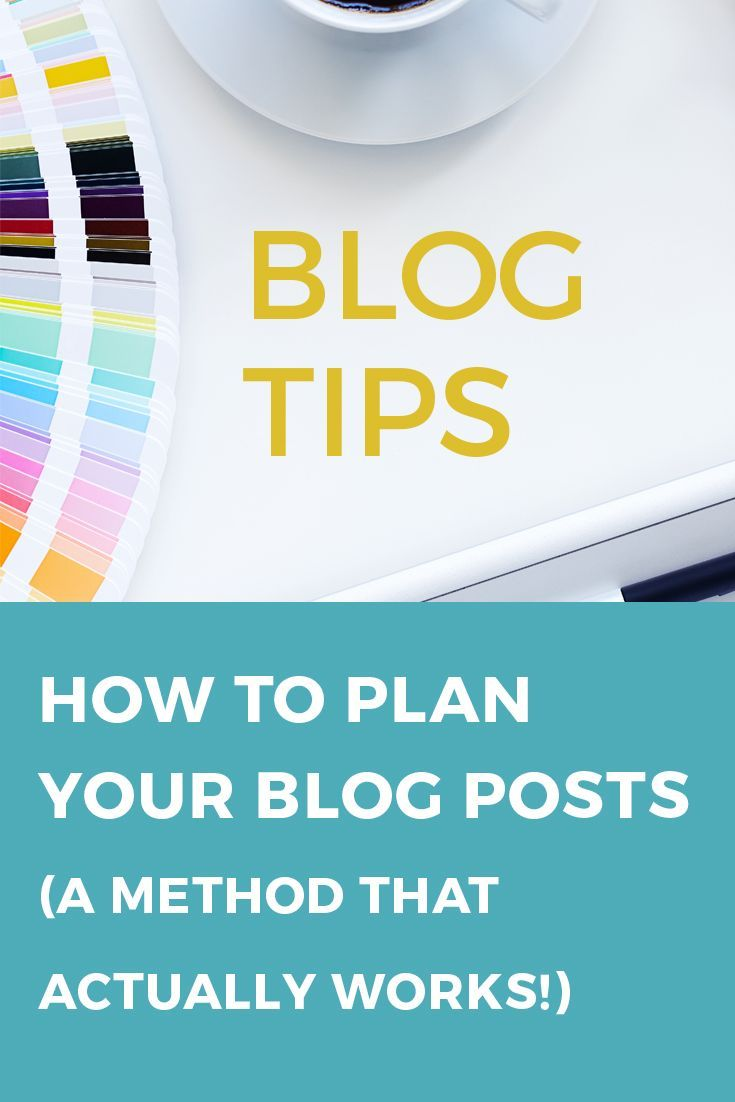 Blog Tip: How to Plan Your Blog Posts (A Method That Actually Works) // The Blog Loft
