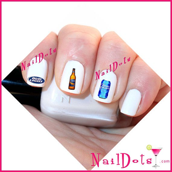 45 Bud Light Nail Art Water Slide Decals Best Deal on by NailDots - 20 Best Alabama Nail Art Images On Pinterest Roll Tide, Alabama